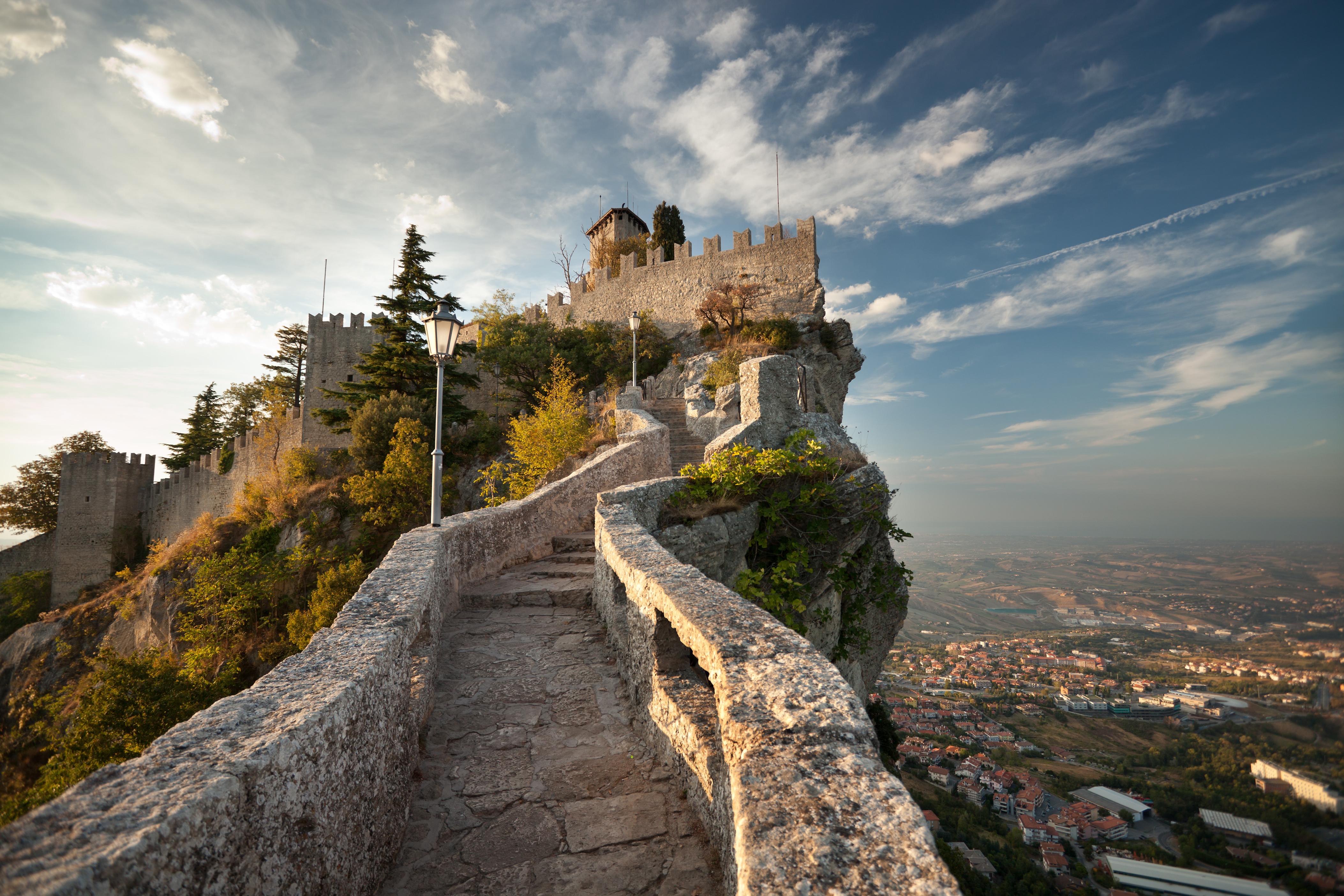 Zamek Rocca della Guaita w San Marino.